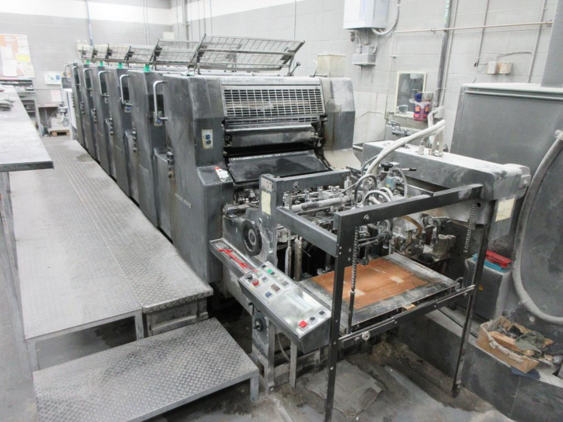 HEIDELBERG MOSP-H 19 x 25_, 6 color sheet fed offset perfecting press with high pile delivery, sn 61 - Image 2 of 10
