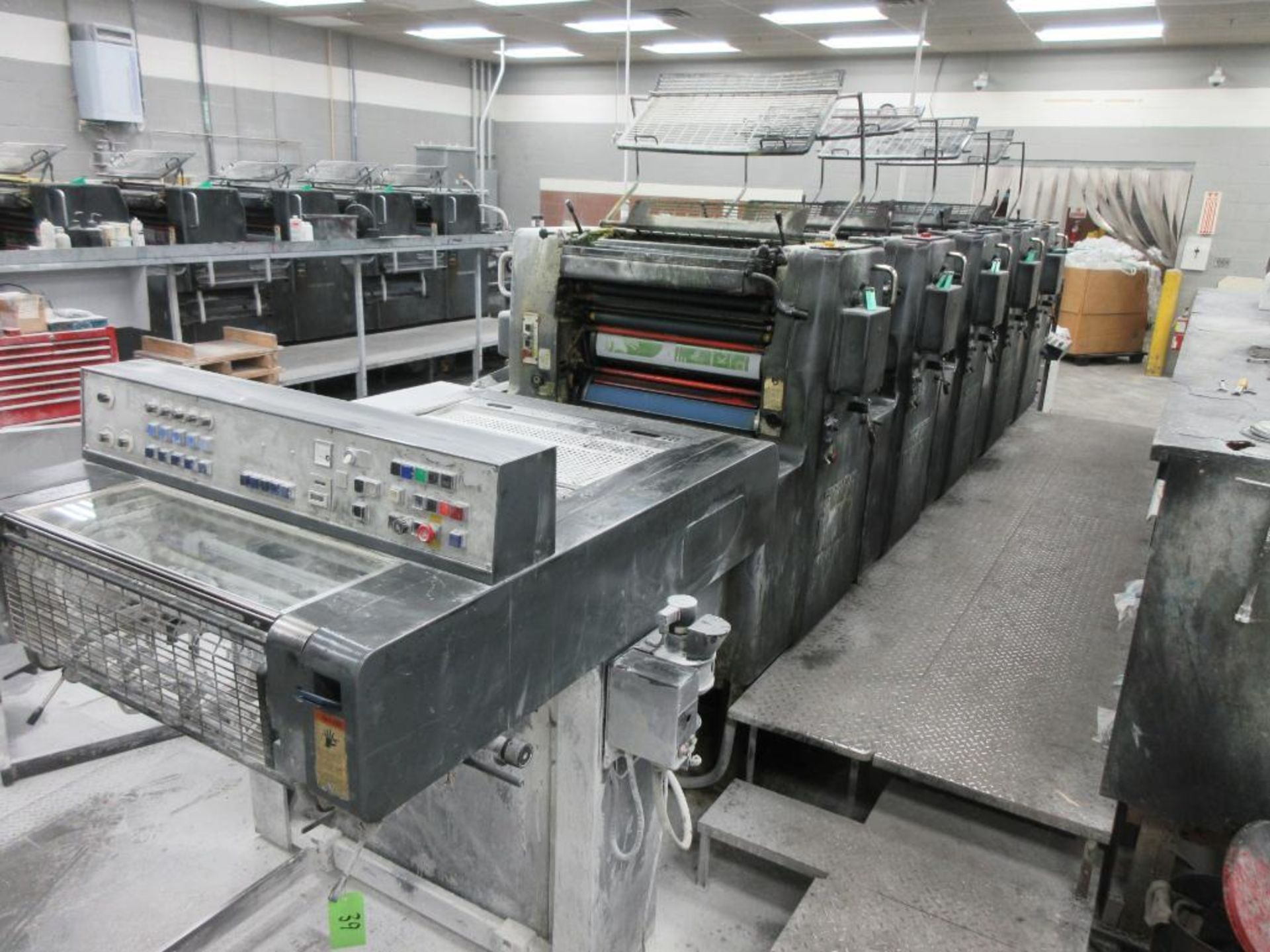 HEIDELBERG MOFP-H 19 x 25_, 5 color sheet fed offset perfecting press with high pile delivery, sn 60 - Image 2 of 11