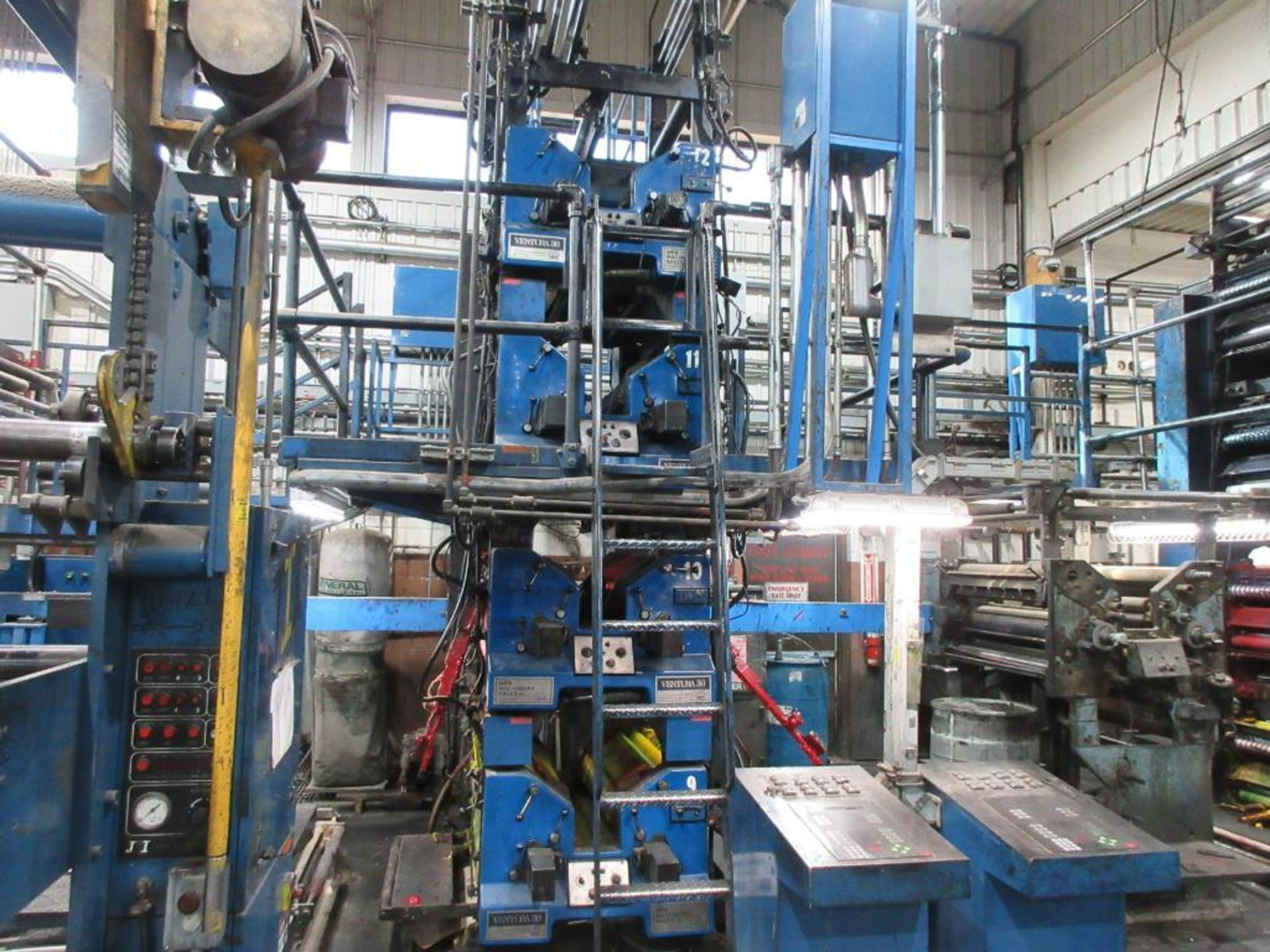 "Complete Goss/Ventura 22.75"" cut off 50 unit web offset press featuring: Ventura 30 4 high (0), Vent - Image 13 of 58"