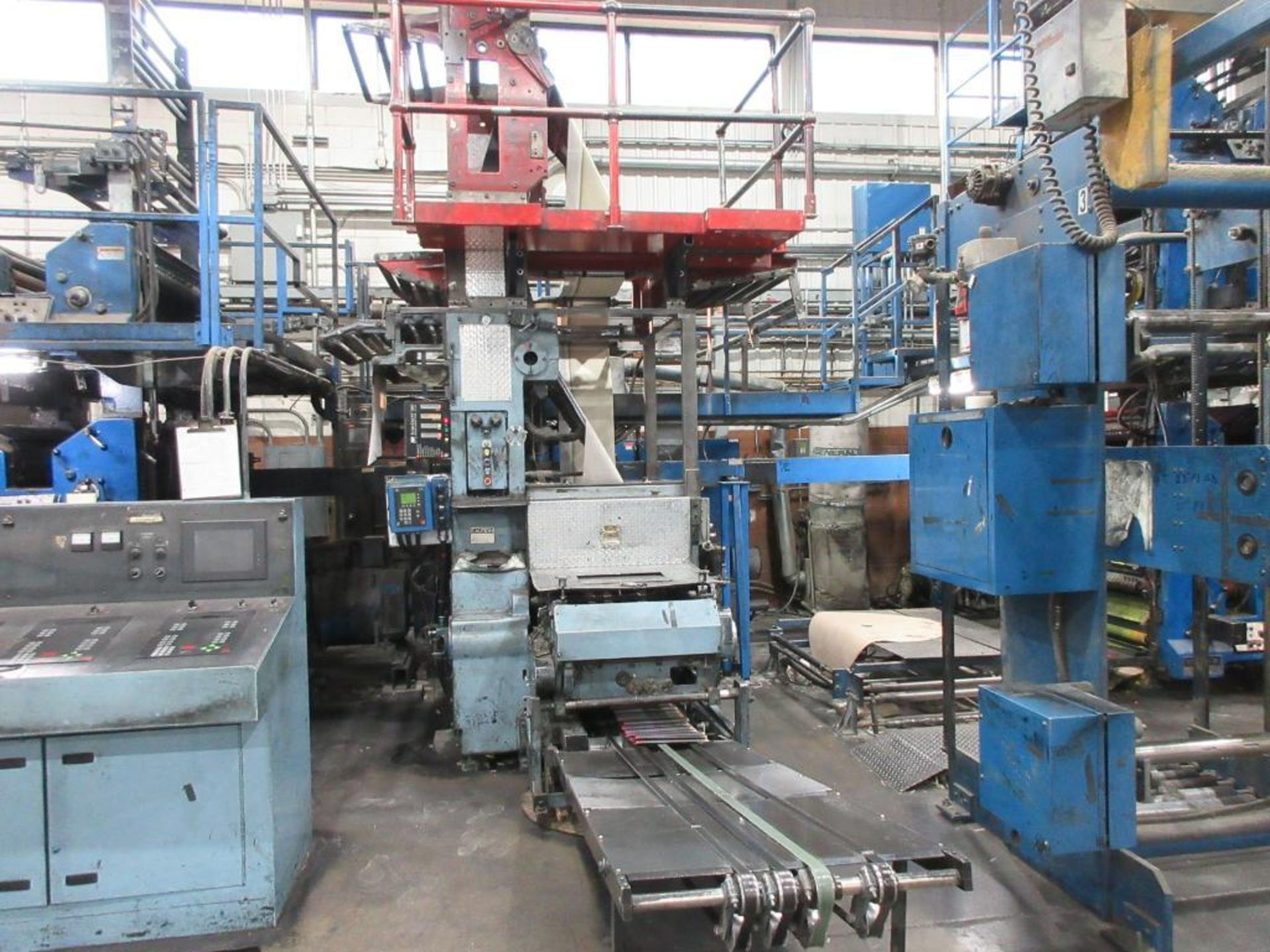 "Complete Goss/Ventura 22.75"" cut off 50 unit web offset press featuring: Ventura 30 4 high (0), Vent - Image 11 of 58"