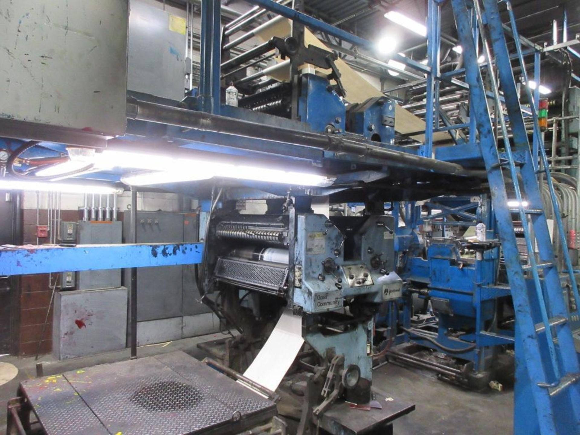 "Complete Goss/Ventura 22.75"" cut off 50 unit web offset press featuring: Ventura 30 4 high (0), Vent - Image 22 of 58"