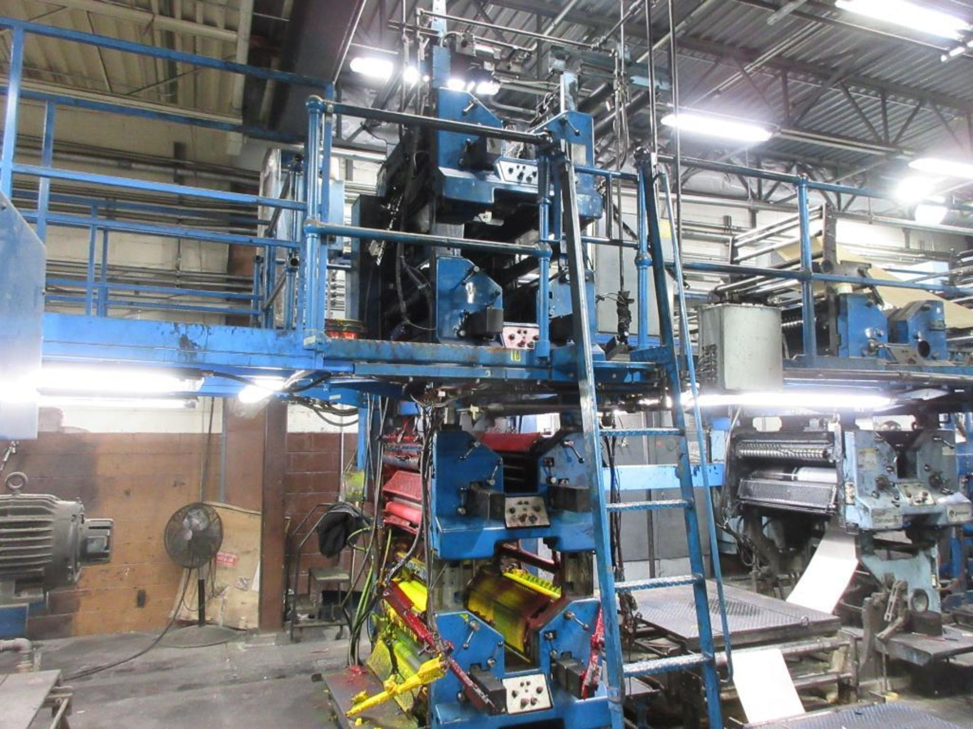 "Complete Goss/Ventura 22.75"" cut off 50 unit web offset press featuring: Ventura 30 4 high (0), Vent - Image 21 of 58"
