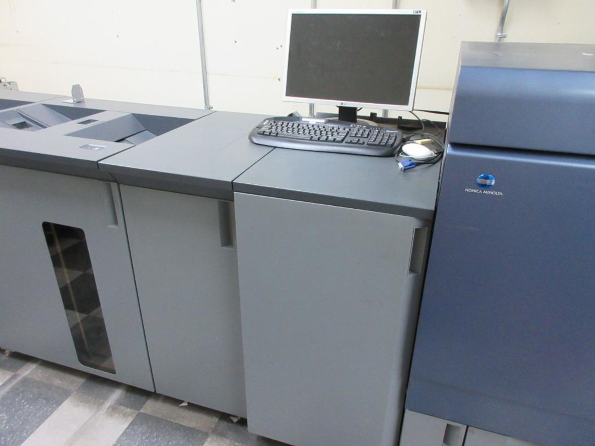 Konica Minolta Digital Press model bizhub press C8000 full colour & B/W 0 PPM capacity, components: - Image 5 of 14
