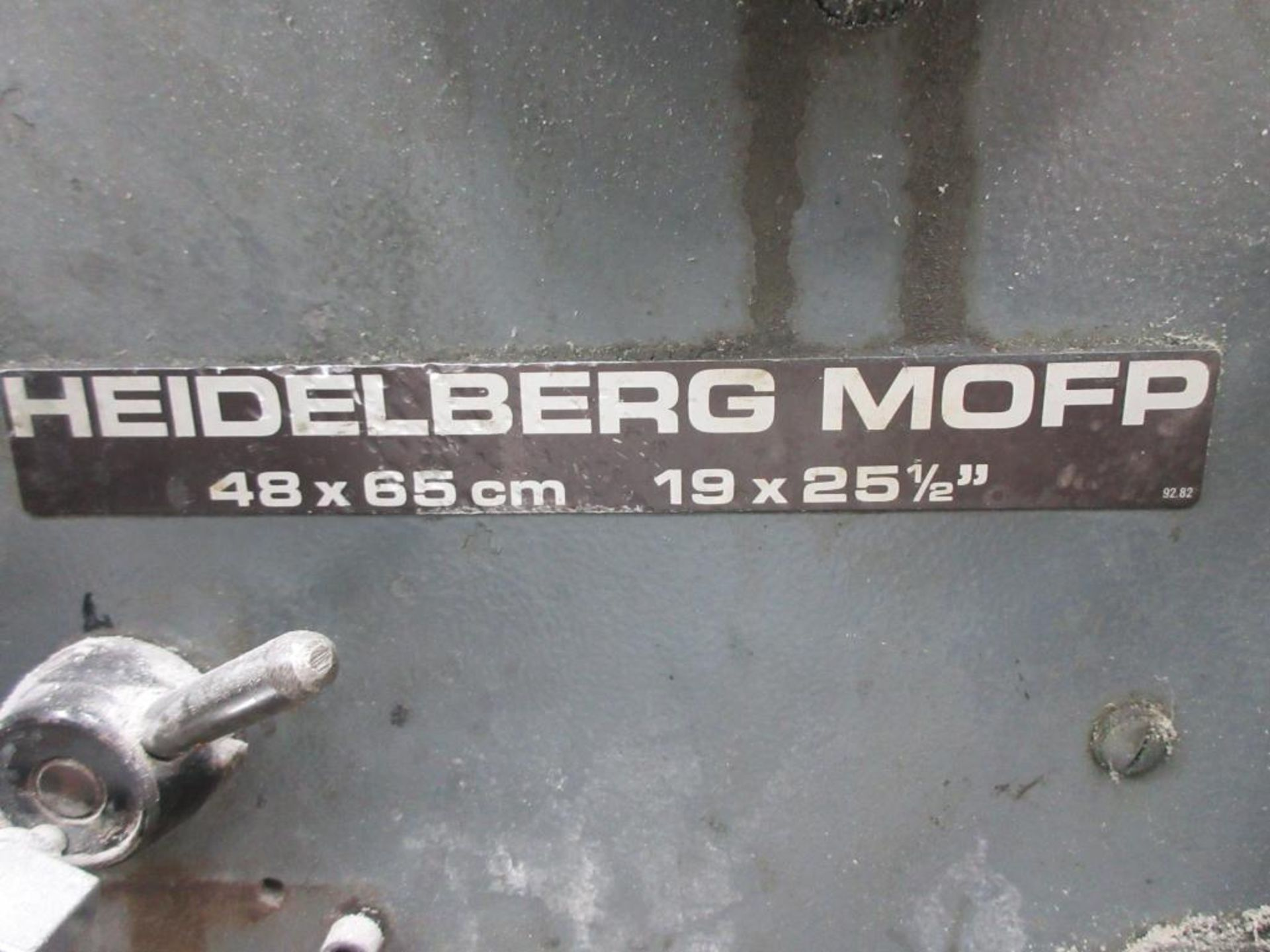 HEIDELBERG MOFP-H 19 x 25_, 5 color sheet fed offset perfecting press with high pile delivery, sn 60 - Image 5 of 11