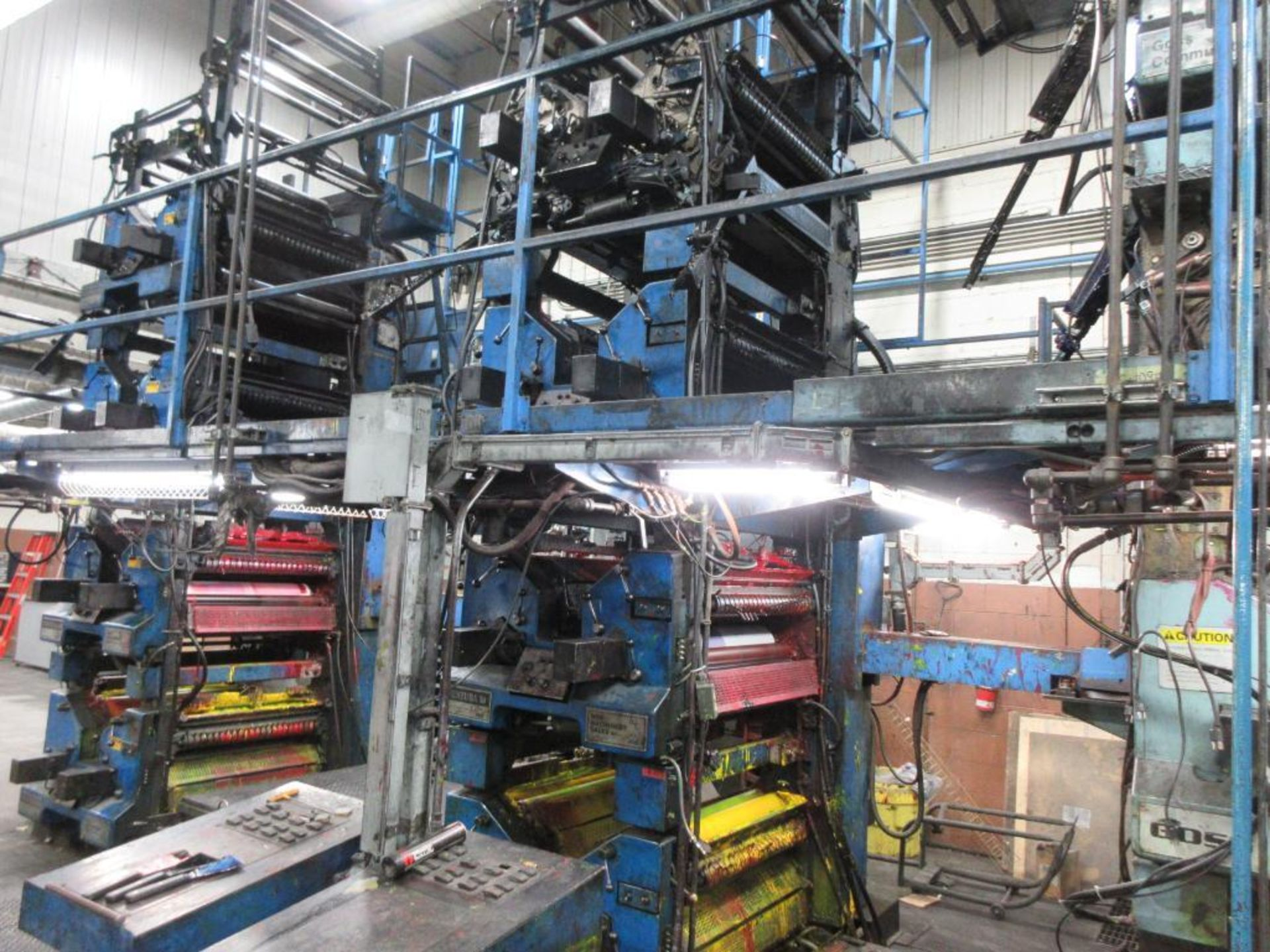 "Complete Goss/Ventura 22.75"" cut off 50 unit web offset press featuring: Ventura 30 4 high (0), Vent - Image 7 of 58"