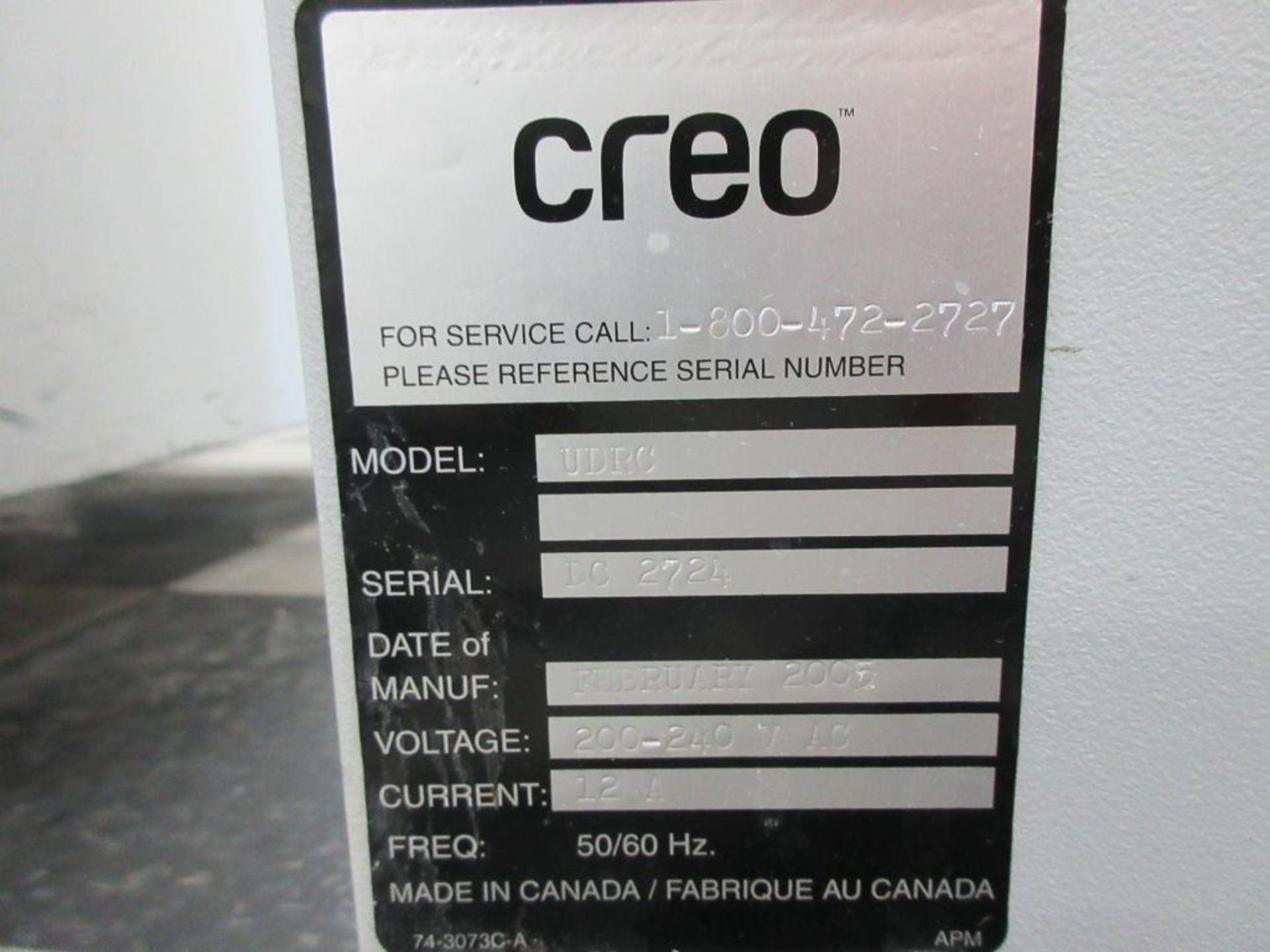 2005 Creo particulate filter model UDRC, configuration BP, replacement filter 57-8792, sn DC2724 - Image 3 of 4