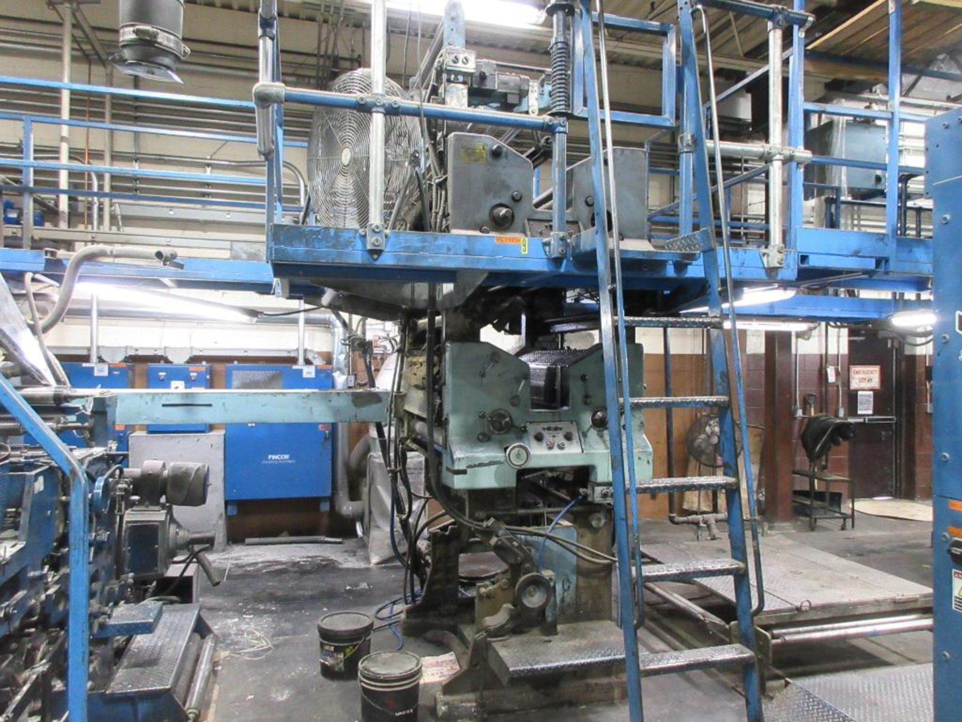 "Complete Goss/Ventura 22.75"" cut off 50 unit web offset press featuring: Ventura 30 4 high (0), Vent - Image 20 of 58"