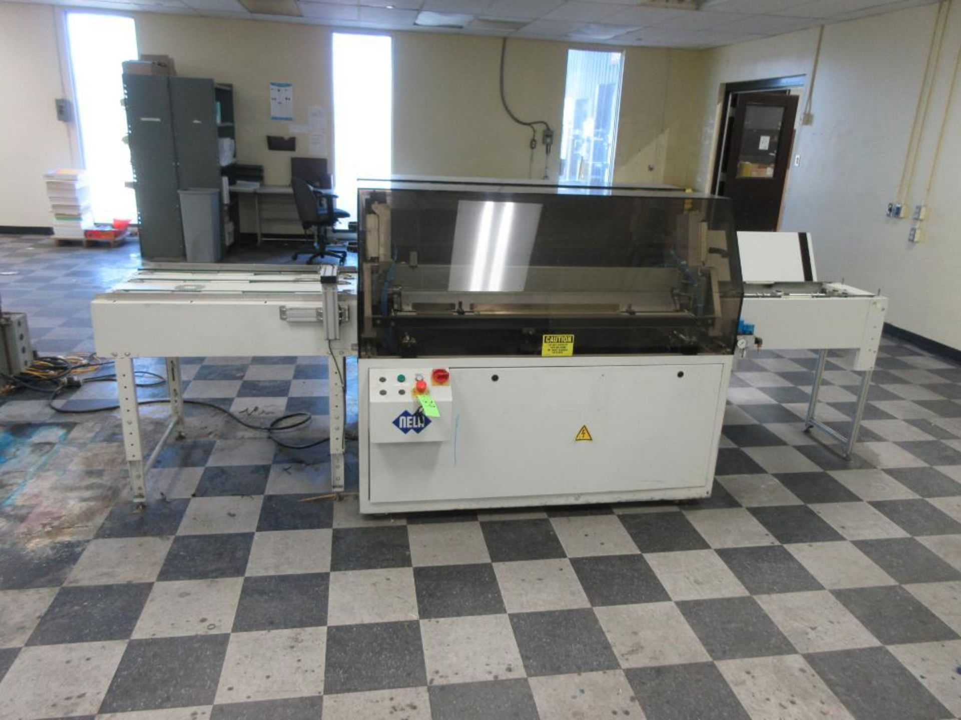 """Nela plate punch / bender model Benchmark 0657-01, 40"""" infeed conveyor, 60"""" bend table, 40"""" outfeed - Image 2 of 6"""