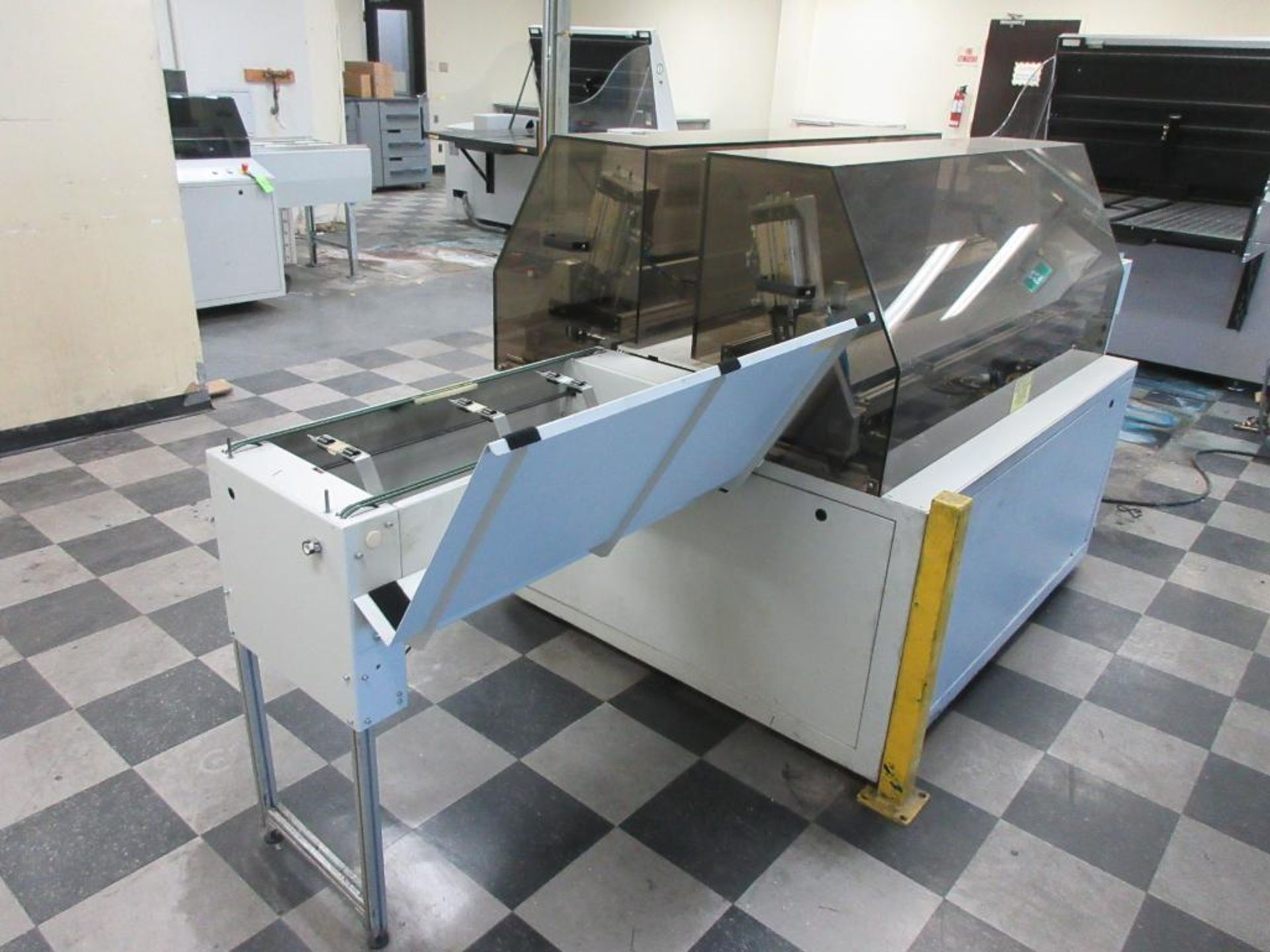 """Nela plate punch / bender model Benchmark 0657-01, 40"""" infeed conveyor, 60"""" bend table, 40"""" outfeed - Image 4 of 6"""