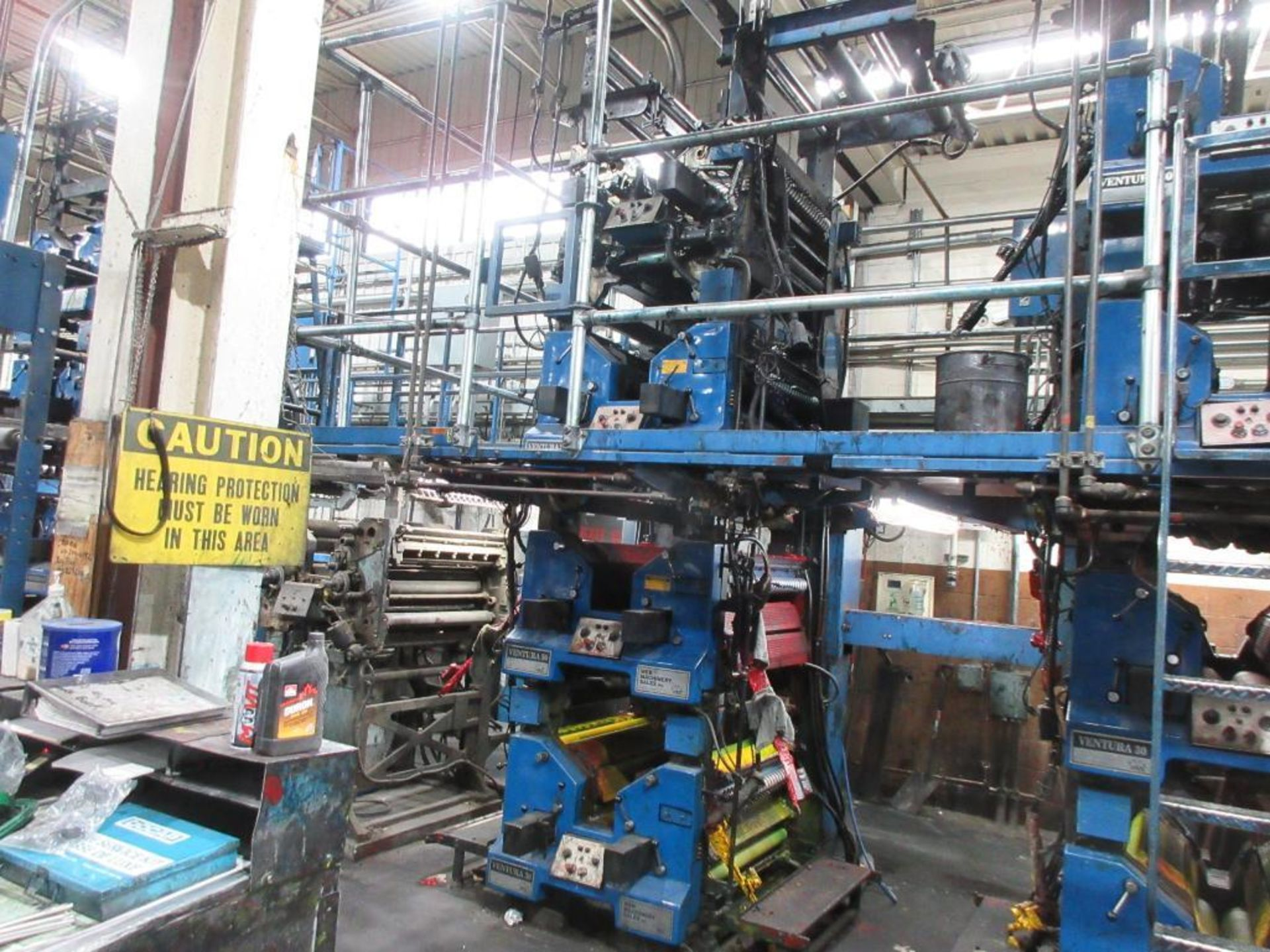 "Complete Goss/Ventura 22.75"" cut off 50 unit web offset press featuring: Ventura 30 4 high (0), Vent - Image 15 of 58"
