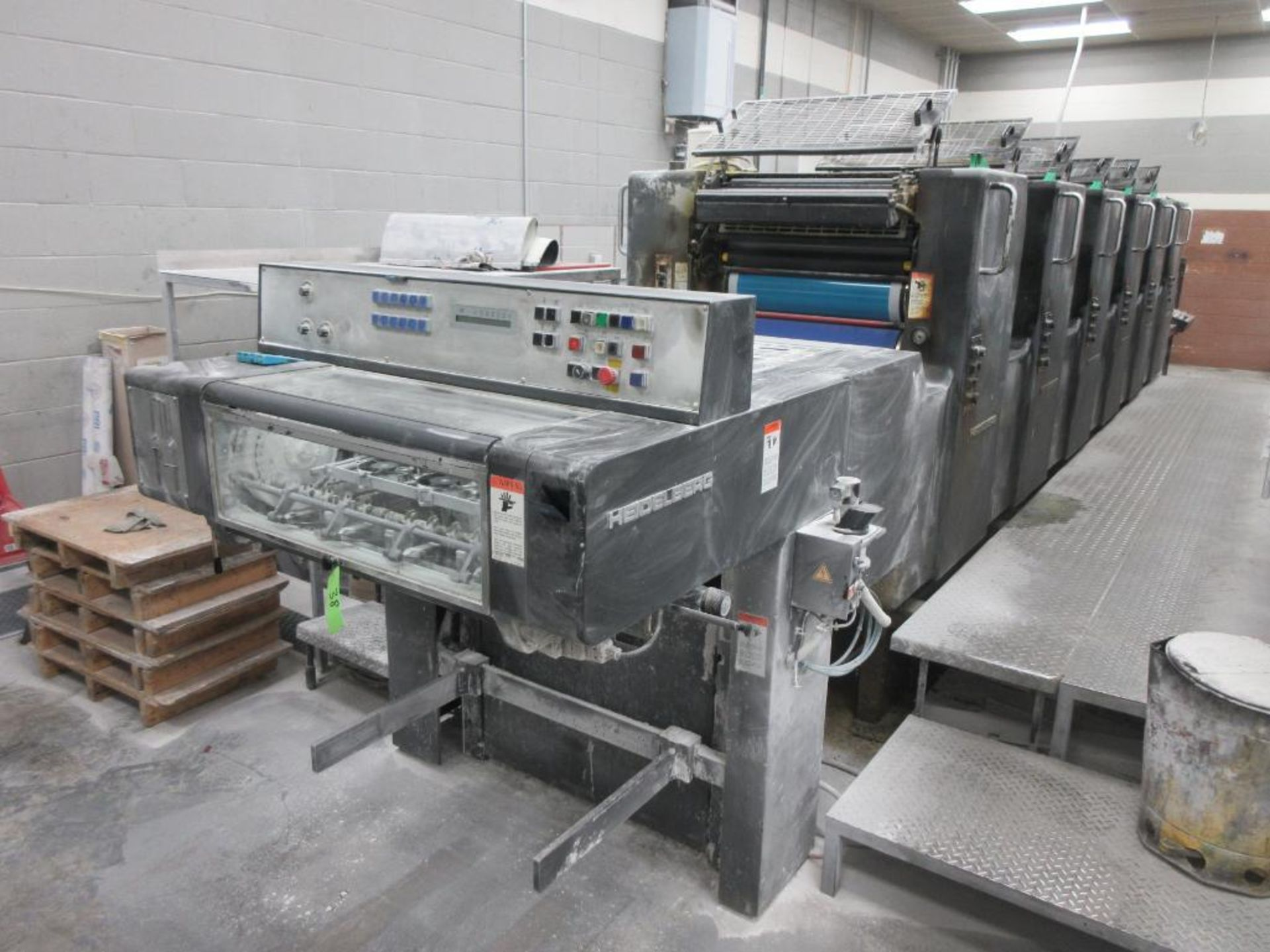 HEIDELBERG MOSP-H 19 x 25_, 6 color sheet fed offset perfecting press with high pile delivery, sn 61 - Image 9 of 10