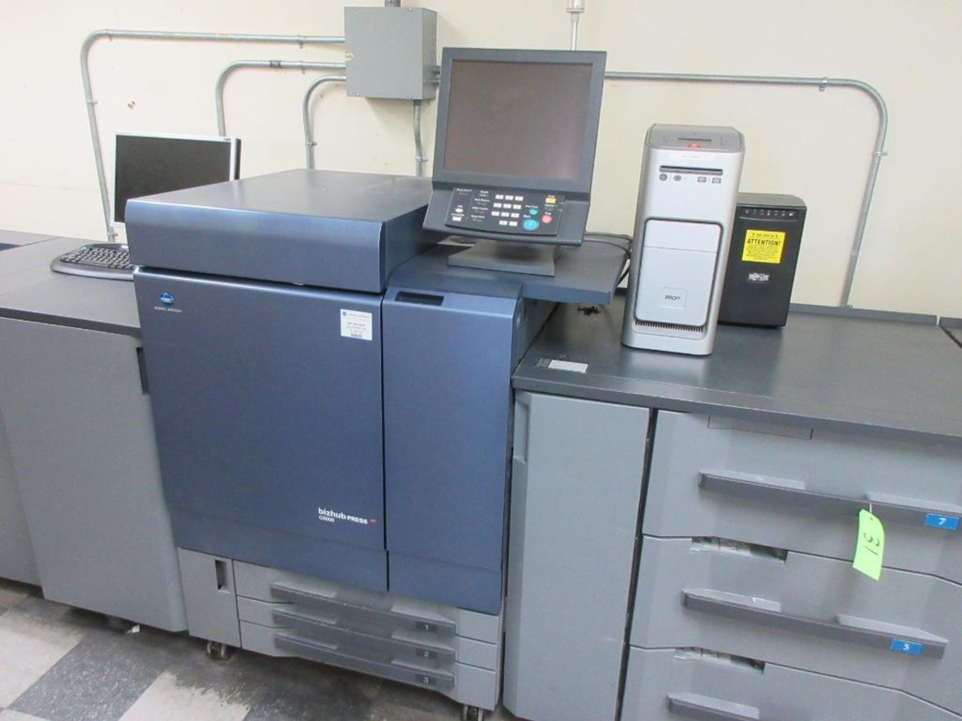 Konica Minolta Digital Press model bizhub press C8000 full colour & B/W 0 PPM capacity, components: - Image 4 of 14
