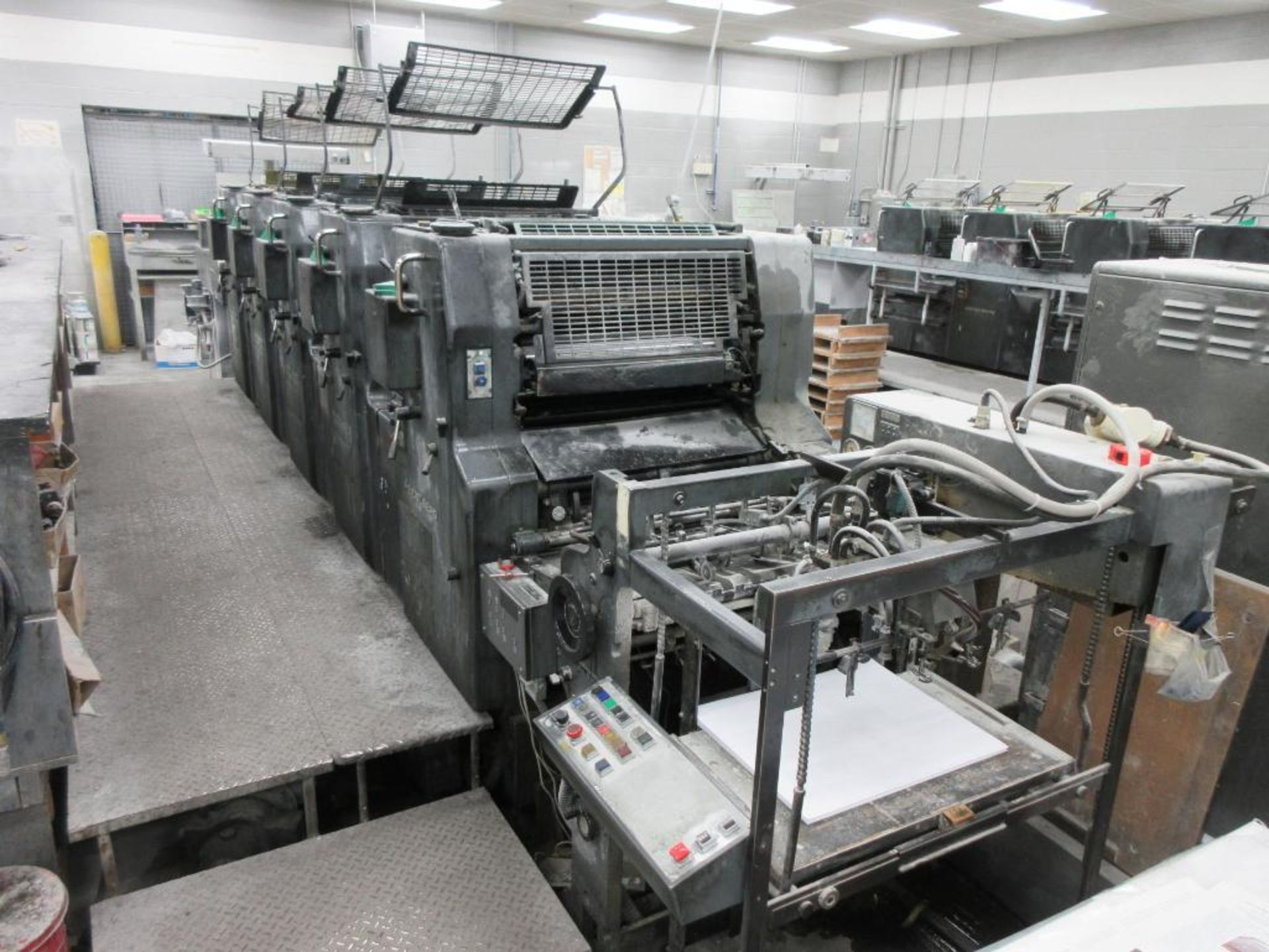 HEIDELBERG MOFP-H 19 x 25_, 5 color sheet fed offset perfecting press with high pile delivery, sn 60 - Image 4 of 11