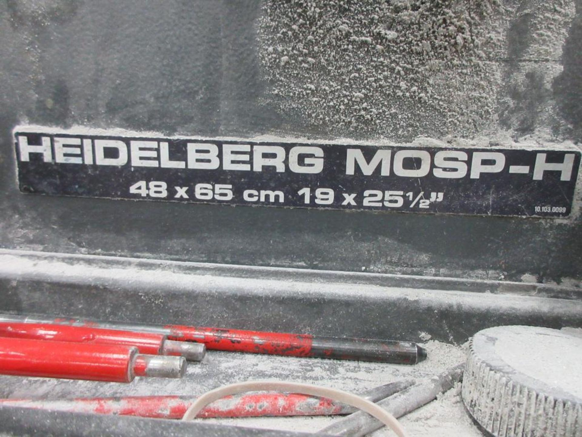 HEIDELBERG MOSP-H 19 x 25_, 6 color sheet fed offset perfecting press with high pile delivery, sn 61 - Image 3 of 10