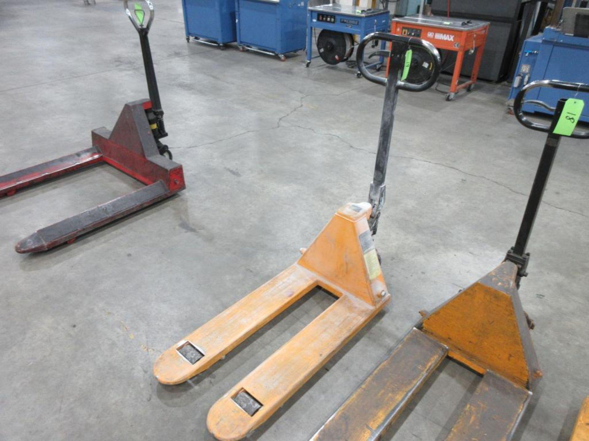 """Pallet Jack, 5,500 lb capacity, 36"""" forks"""