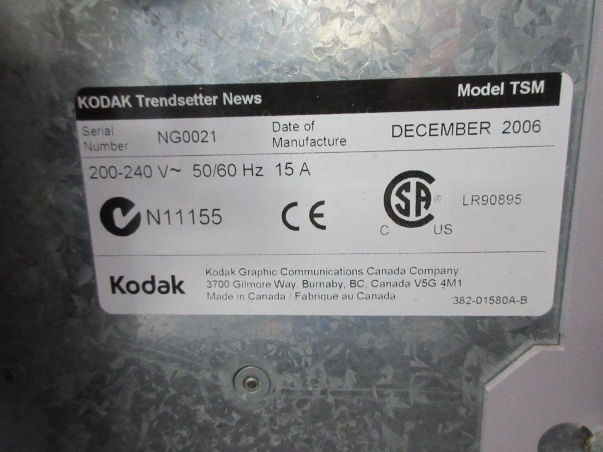 """2006 Kodak Trendsetter News plate setter, model TSM, square spot, 29"""" x 41"""" plate capacity, sn NG002 - Image 4 of 4"""