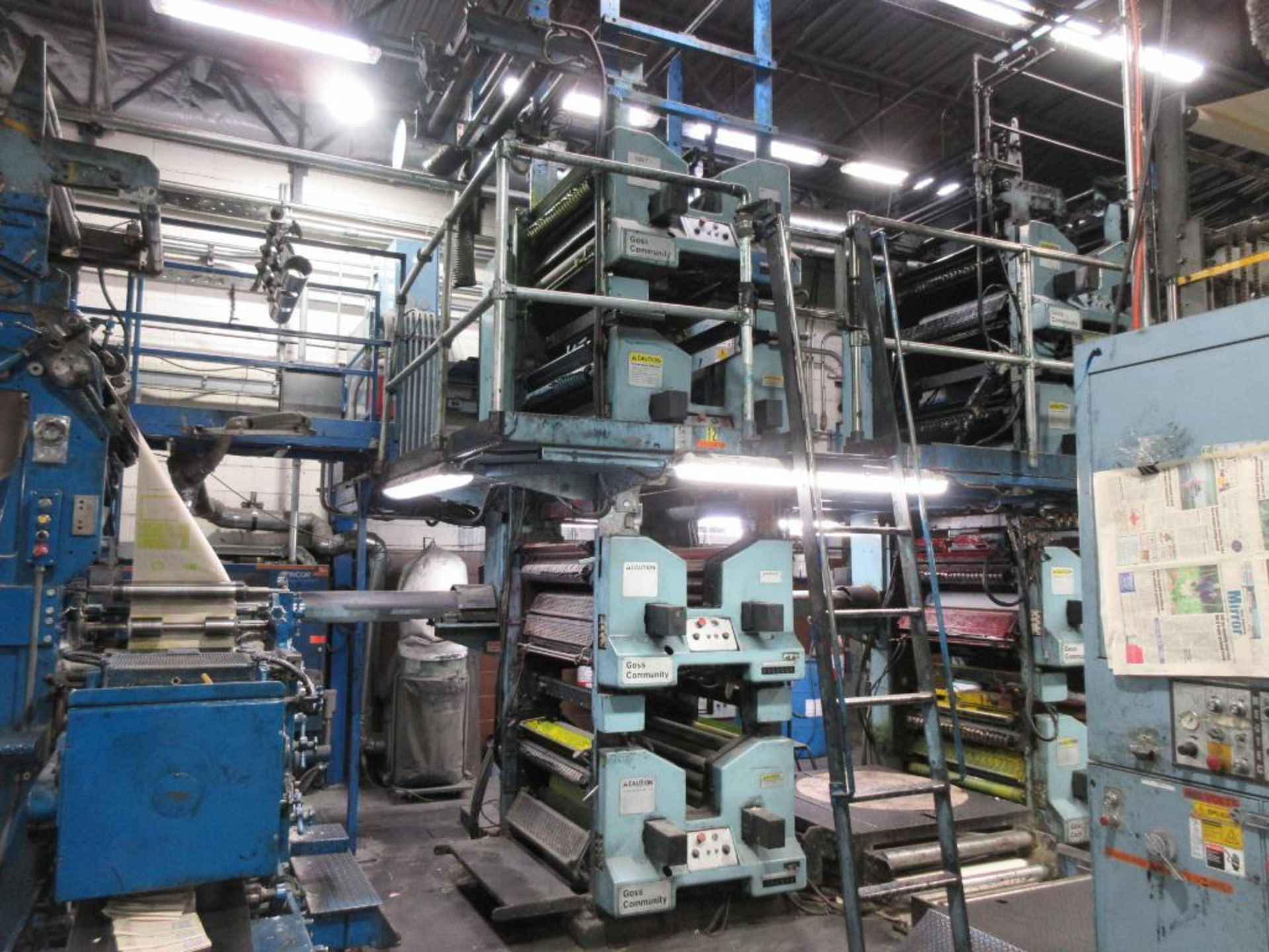 "Complete Goss/Ventura 22.75"" cut off 50 unit web offset press featuring: Ventura 30 4 high (0), Vent - Image 24 of 58"