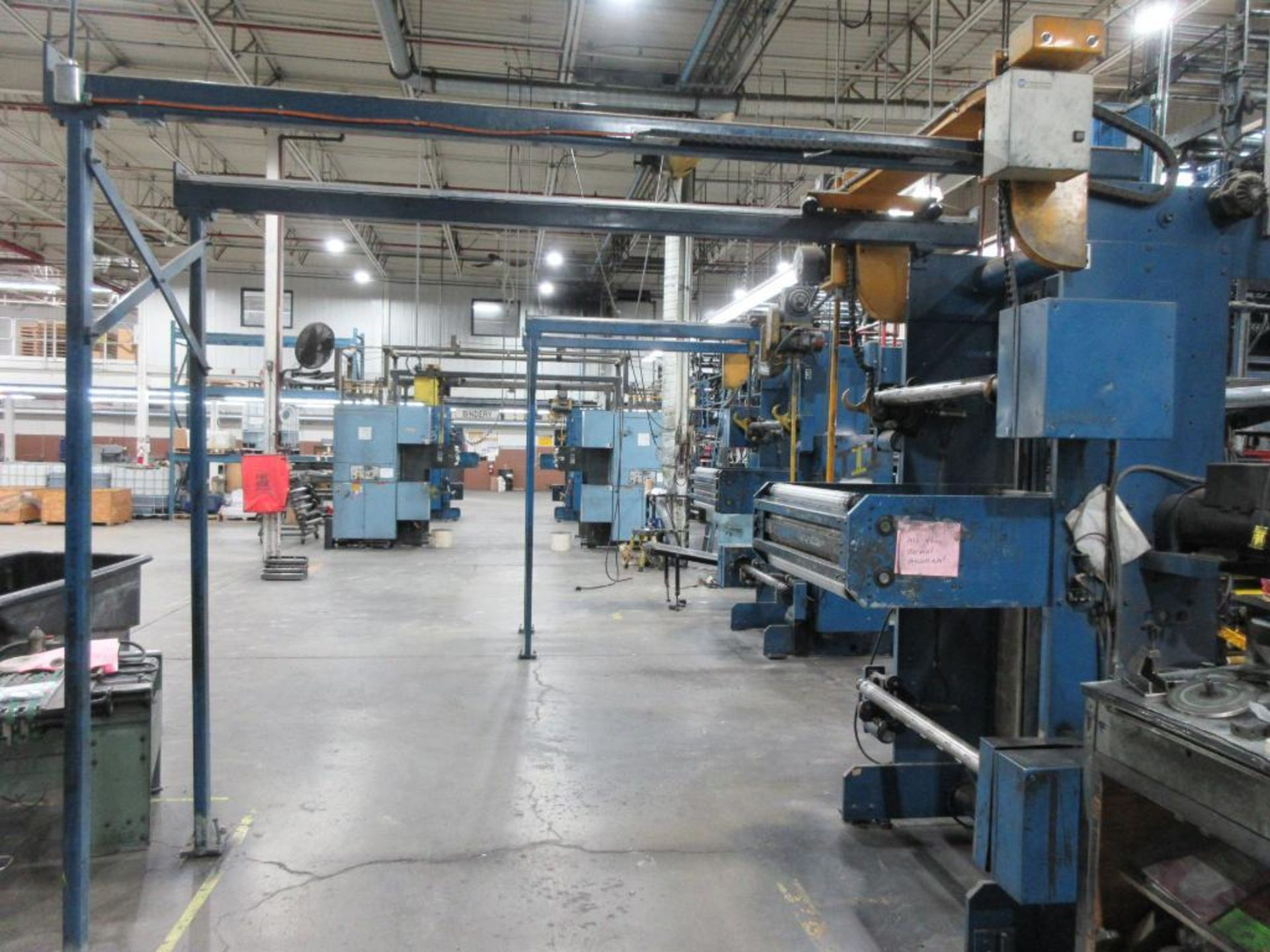 "Complete Goss/Ventura 22.75"" cut off 50 unit web offset press featuring: Ventura 30 4 high (0), Vent - Image 44 of 58"