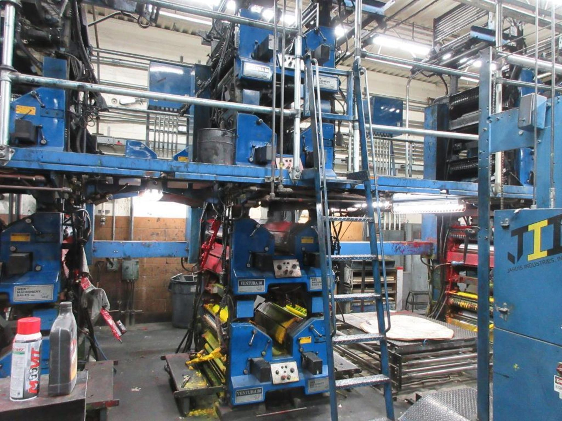 "Complete Goss/Ventura 22.75"" cut off 50 unit web offset press featuring: Ventura 30 4 high (0), Vent - Image 16 of 58"