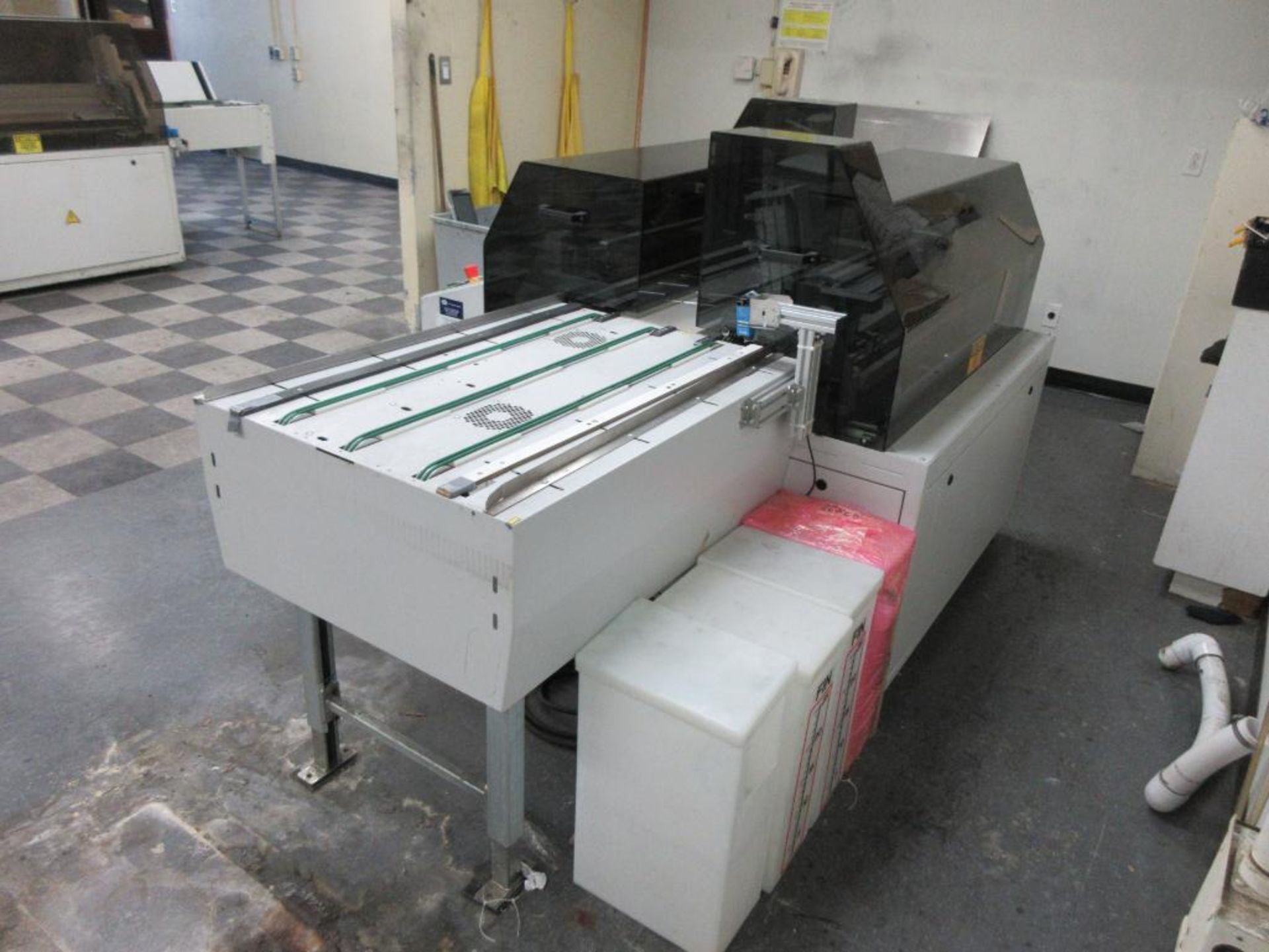 "Nela plate punch / bender, model BNCH-7545-01, 40"" infeed conveyor, 48"" bend table, 40"" outfeed conv - Image 3 of 6"
