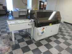 """Nela plate punch / bender model Benchmark 0657-01, 40"""" infeed conveyor, 60"""" bend table, 40"""" outfeed"""