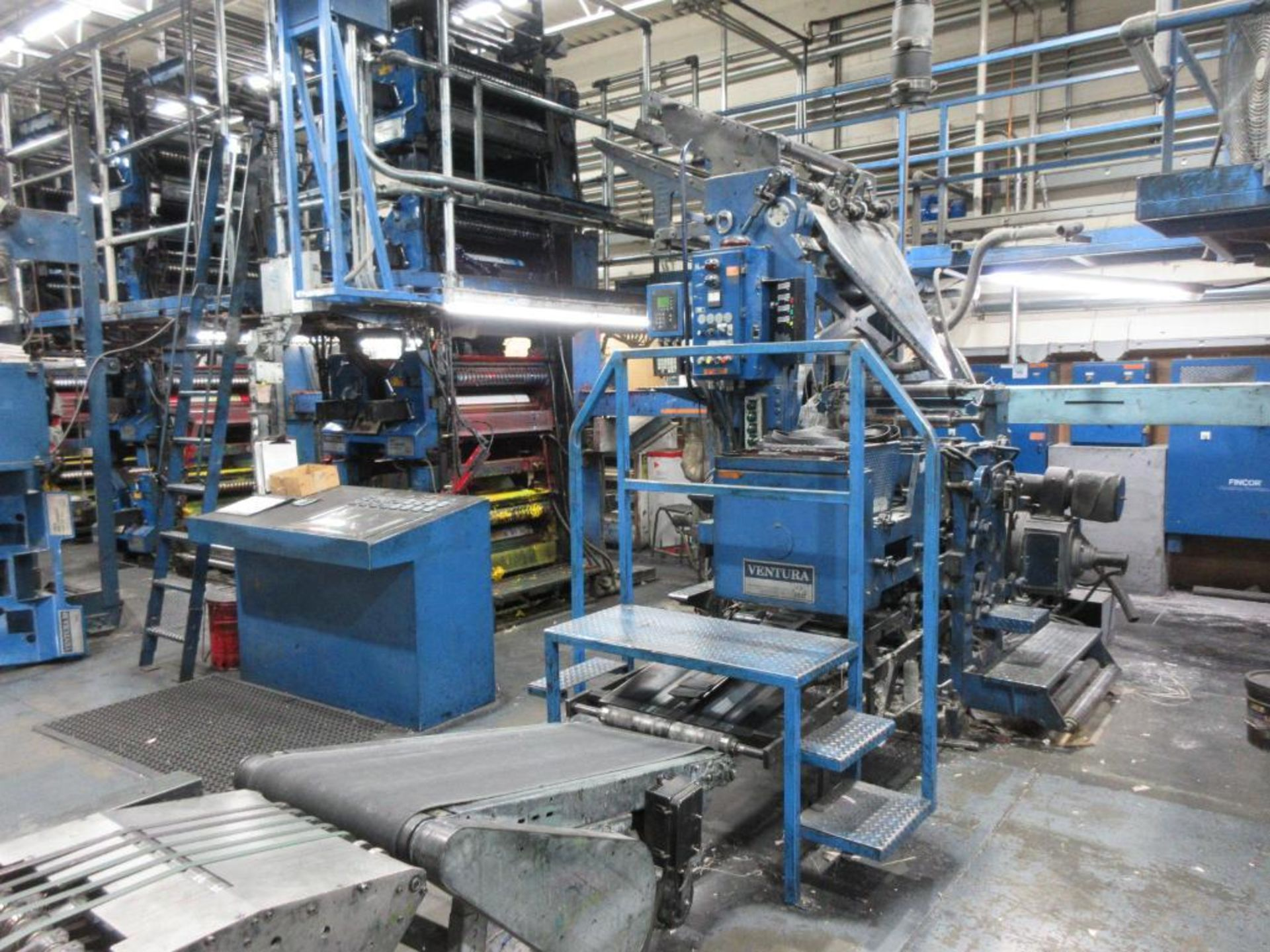 "Complete Goss/Ventura 22.75"" cut off 50 unit web offset press featuring: Ventura 30 4 high (0), Vent - Image 19 of 58"