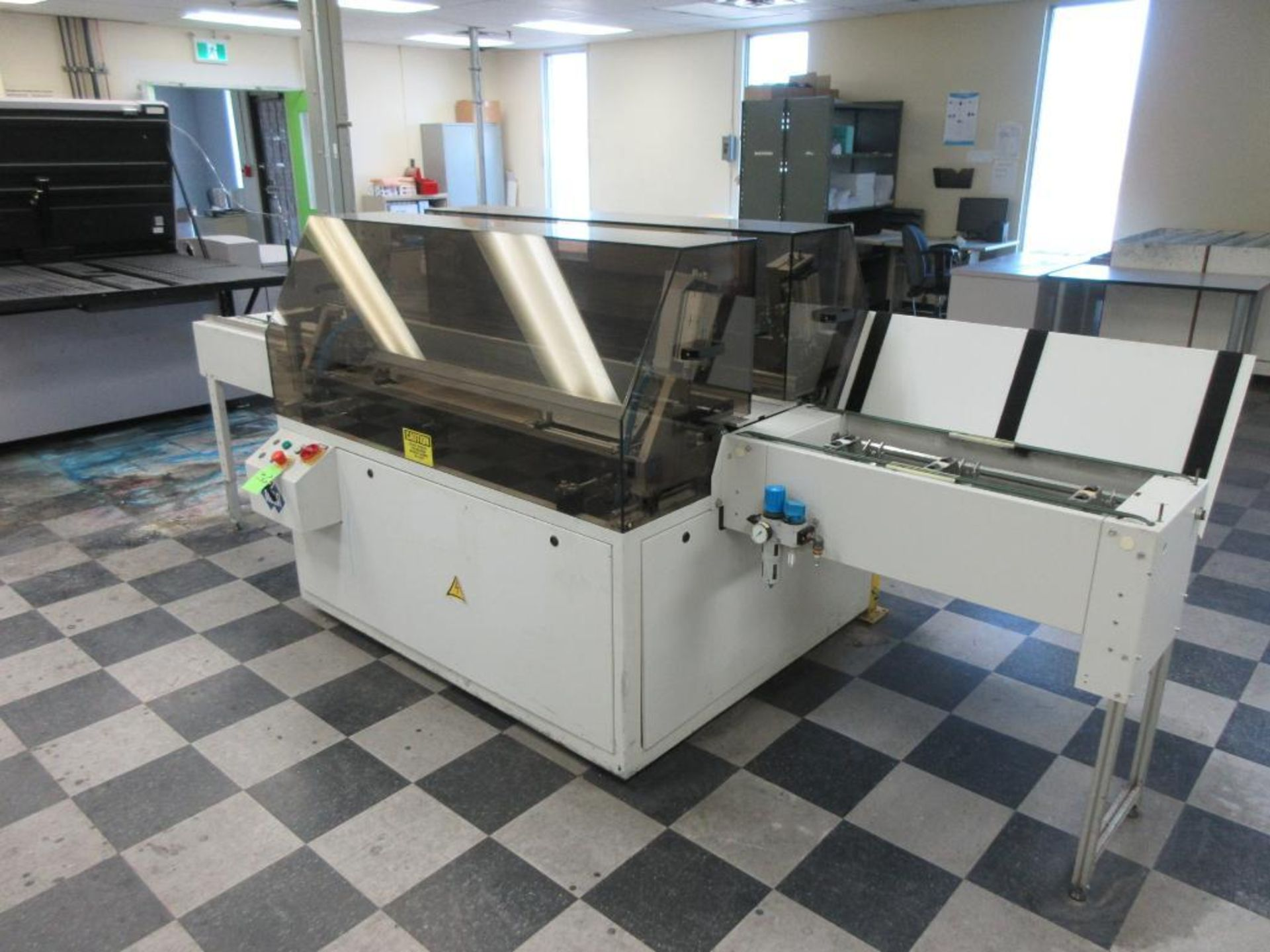 """Nela plate punch / bender model Benchmark 0657-01, 40"""" infeed conveyor, 60"""" bend table, 40"""" outfeed - Image 3 of 6"""