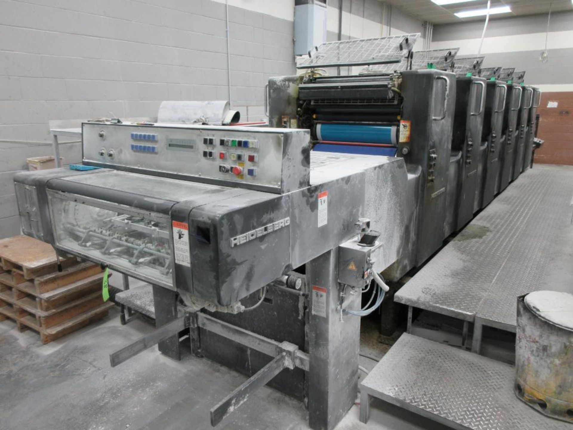 HEIDELBERG MOSP-H 19 x 25_, 6 color sheet fed offset perfecting press with high pile delivery, sn 61