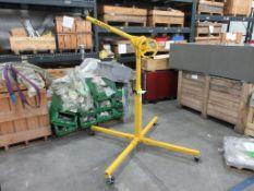 Sky hook 200 lb capacity portable manual lift, sn 1A6193