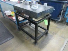 "Mitutoyo surface plate 36"" x 24"" x 5"", stand, calibrated 04/24/2020"
