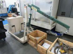 Beech model B-500CW portable counterweight crane, 500 lb capacity, total weight 915 lb, sn 031481 [M