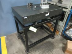 "Mitutoyo surface plate 36"" x 24"" x 5"" w EPI-17 stand, calibrated 04/24/2020"