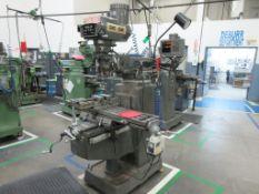 "TECHLEADER mill model 3VHR, 60-4200 rpm, 10""x 50"" table, Heidenhain 2 axis DRO, power x, sn 8944 [M"