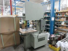 "JDEAL vertical bandsaw, 30"" throat, 31"" x 29"" table [Exclusive rigging fee of $250 will be added to"