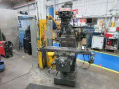 "TECHLEADER mill model 3VHP, 10""x 50"" table, 2 axis Heidenhain DRO, 60-4200 rpm, power x, 3 hp, sn 8"