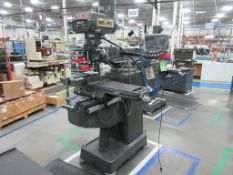 "TECHLEADER mill model 3VHR, 60-4200 rpm, 10"" x 50"" table, Mitutoyo 2 axis DRO, 1996, sn 8771 [M0154]"