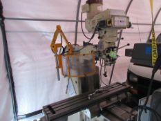 "FALCON mill model FM-3VKL, 10""x 50"" table, 2 axis Heidenhain DRO, 50-4500 rpm, power x, 3 hp, sn LM"