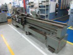 "TARNOW lathe model TUJ50, 22"" x 100"", 10"" 3 jaw chuck, approx. 2"" bore, tailstock, toolpost, rpm ran"