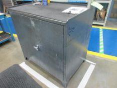 """(3) Assorted grey steel 36"""" x 24"""" 2 door tool cabinets"""