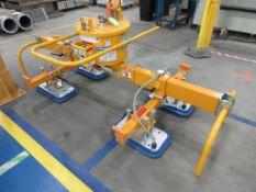 2019 ANVER vacuum lift model M250M-L & L440M4-S6-2/44, 3250 lb capacity, max 8'x 6', (4) vacuum hea