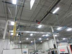 2016 GORBEL 500 lb capacity, ceiling mounted, approx: 60' length, 23' bridge span (20' between rails