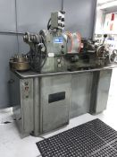 "HARDINGE lathe model HLV-H, 10""x20"", collet chuck, tailstock, toolpost, 125-3000 rpm, spare collets"