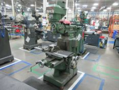 "EX-CELL-O mill, model 602, 9"" x 40"" table, Mitutoyo 2 axis dro, 85-4000 rpm, 2 HP, sn 60210025 [M015"