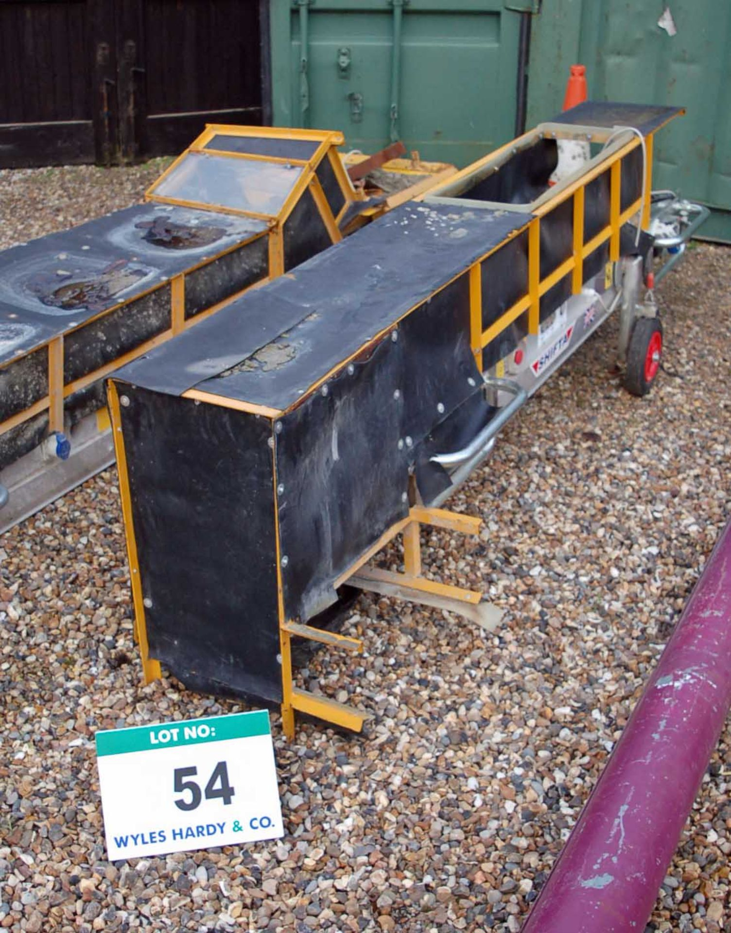 Lot 54 - A MACE SHIFTA Type 1 Approximately 2.5 Meter x 280MM Electric Rubber Troughed Conveyor (110V) in