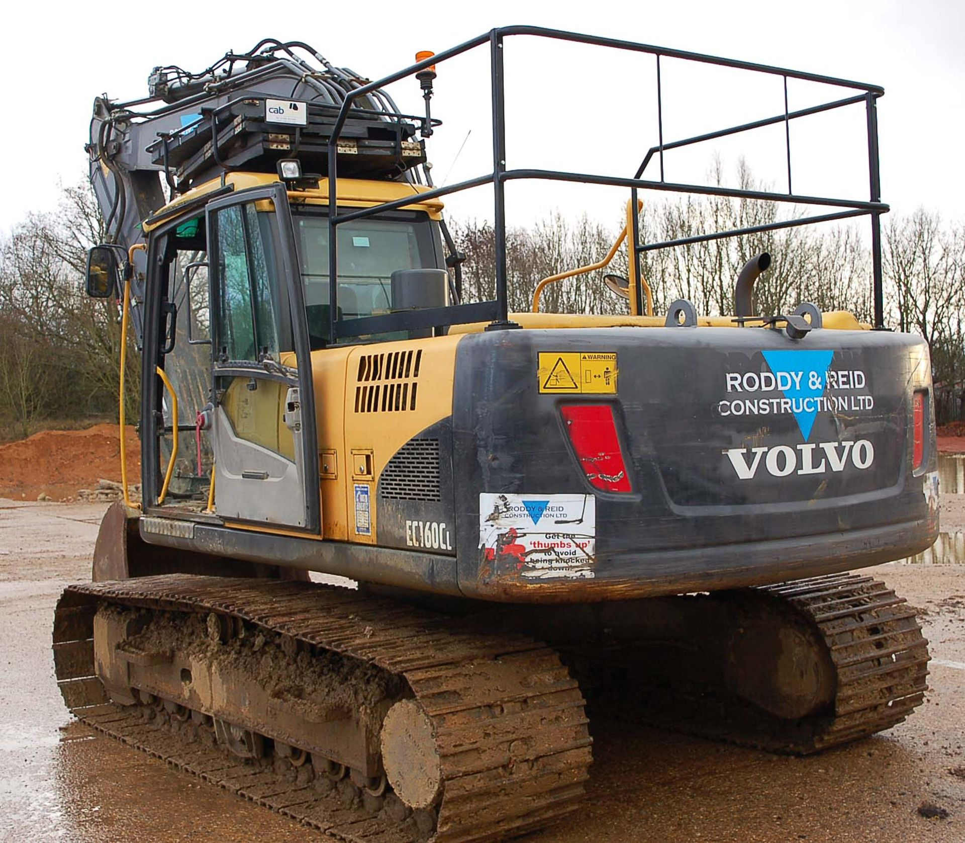 Lot 45 - A VOLVO FEC160CL 16 Tonne 360 Degree Slew Tracked Excavator Serial Number: 120710 (2010) with Fitted