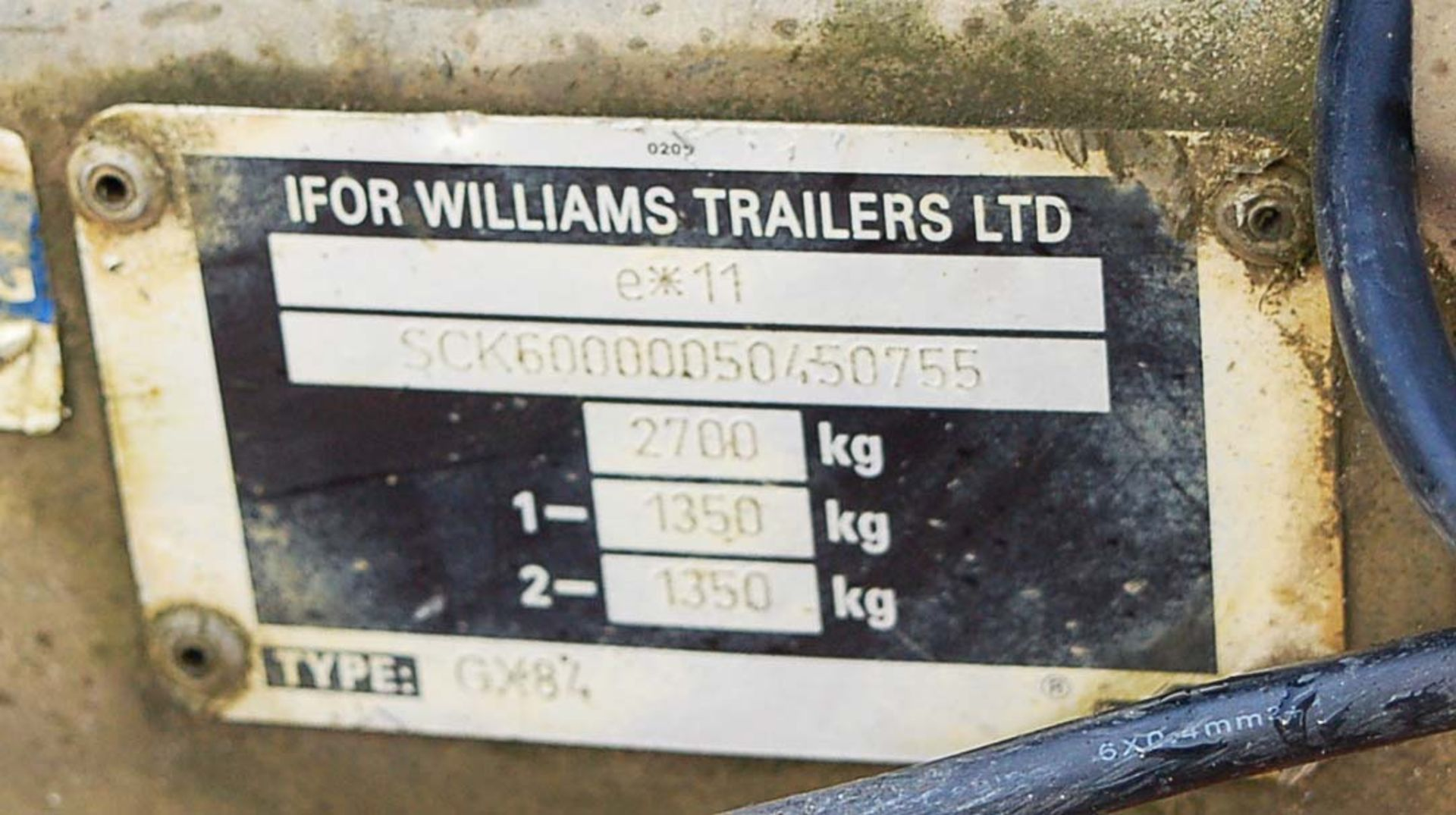 Lot 47 - An IFOR WILLIAMS Type GX84 2700Kg Capacity Twin Axle Plant Trailer Serial Number: