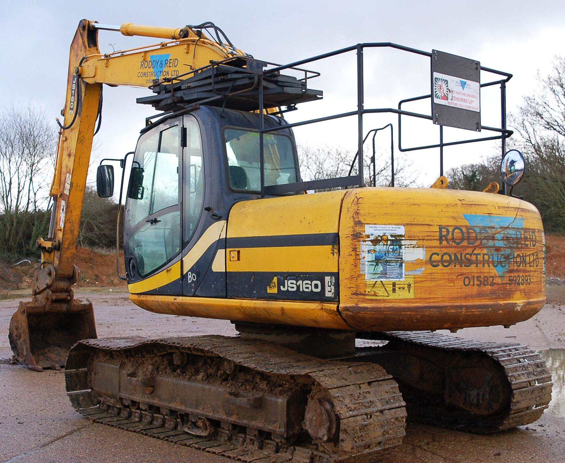 Lot 46 - A JCB JS160 LC 16 Tonne 360 Degree Slew Tracked Excavator Serial Number: SLPJ516C6E1059439 (2006)