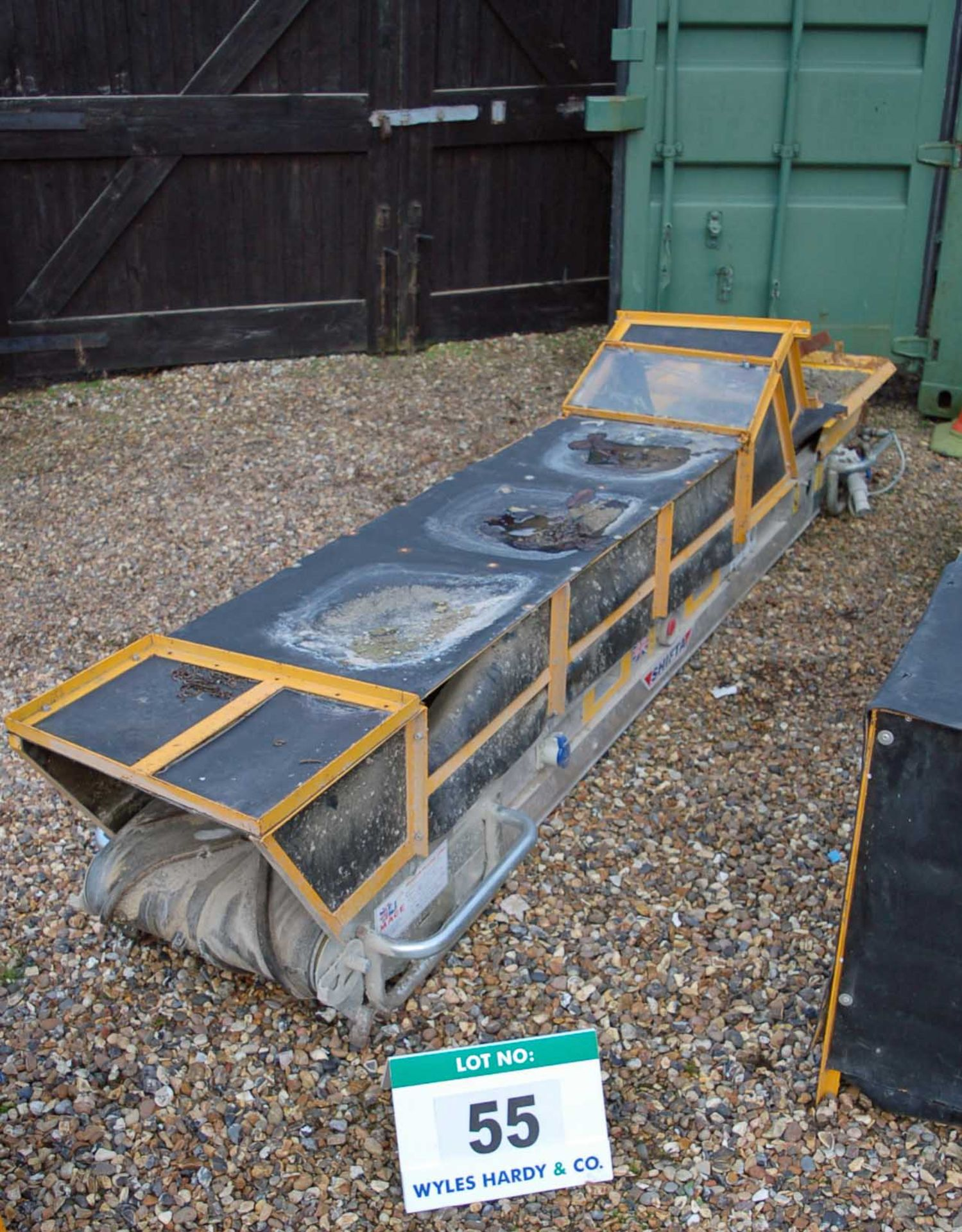 Lot 55 - A MACE SHIFTA 3.2 Approximately 3.2 Meter x 450MM Electric Rubber Troughed Conveyor (110V).