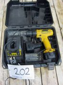 A DEWALT Model DW925 7.2V Cordless Drill/Driver complete with Two Batteries, Charger and Blow