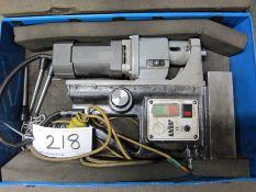 A UNIBOR Model E3 Electro Magnetic Drill 110V, 1200 Watt, Serial No. N1713, in Steel Case